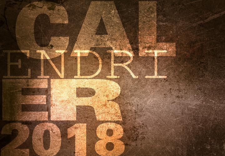 SAEF, calendrier 2018