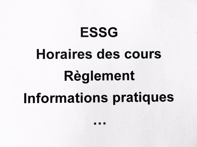 ESSG - Information pour personnes en formation