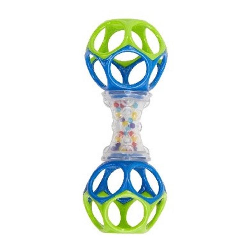 Das Photo zeigt die Spielzeugrasse Oball Shaker