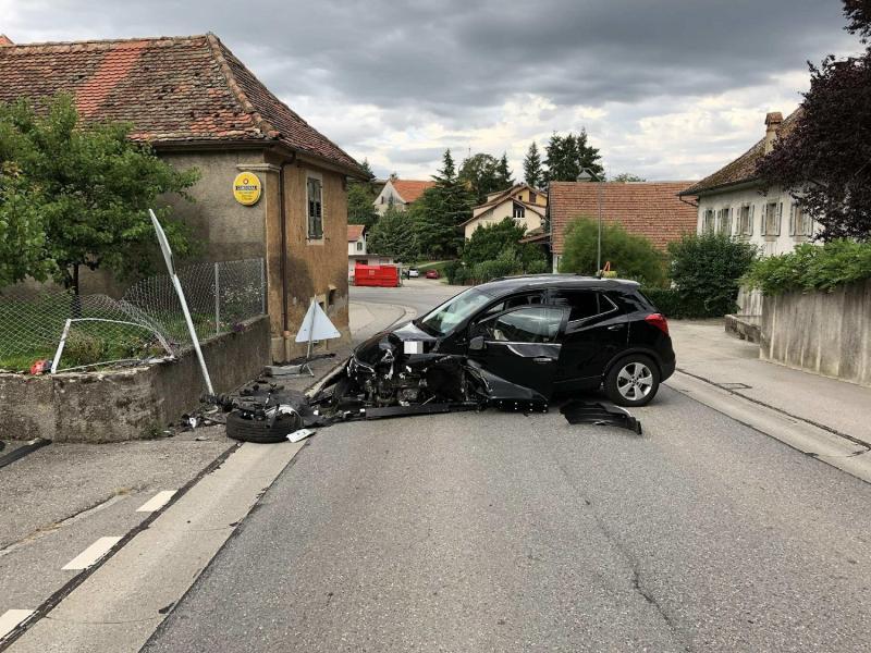 Accident de circulation à Vesin