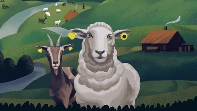 L'image montre une chèvre et un mouton