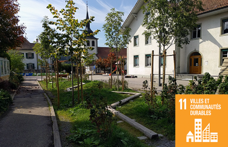"""Projet de requalification de l'école de Marly Cité, issue du projet-modèle de l'Agglomération de Fribourg """"Espace ouvert Fribourg"""""""