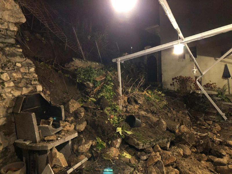 Effondrement d'un mur de soutènement à Estavayer-le-Lac