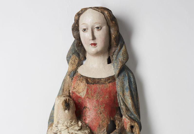 la Vierge allaitante de Cressier (début du XVe siècle), MAHF 1987-010