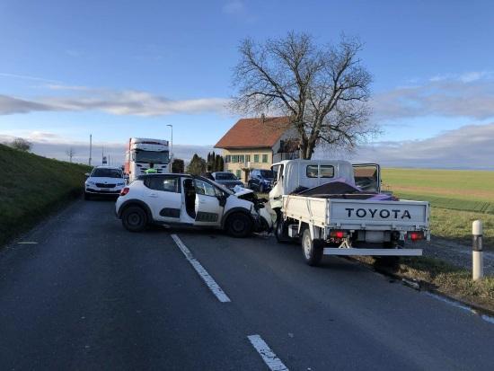 Accident circulation avec 3 blessés à Prez-vers-Noréaz