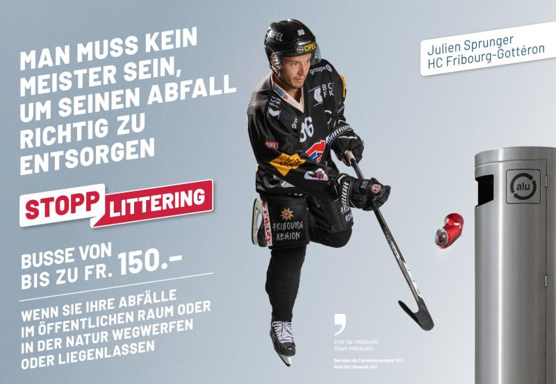 """Kampagne """"Stopp littering"""" - Julien Sprunger"""