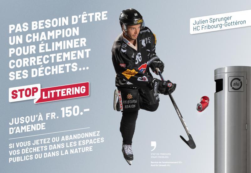 """Campagne """"Stop littering"""" - Julien Sprunger"""