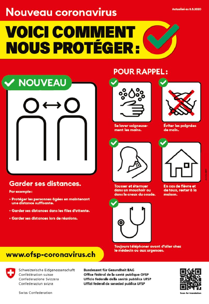 Affiche « Nouveau coronavirus : Voici comment nous protéger »