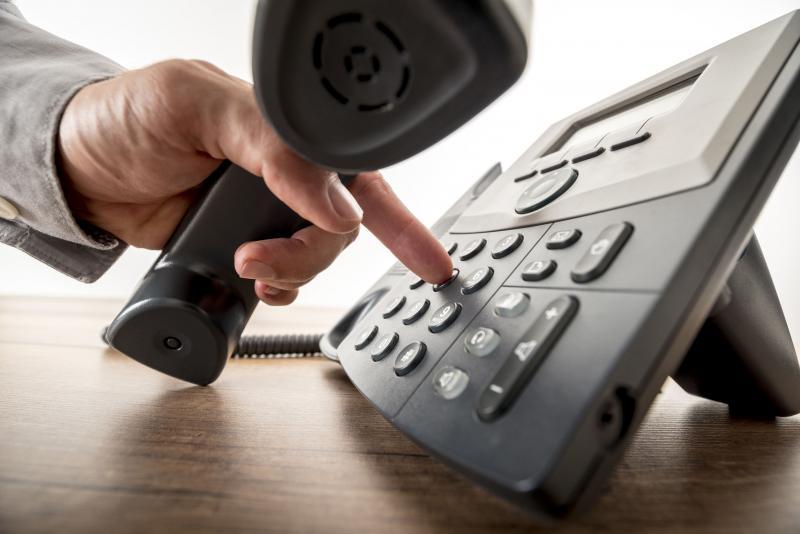 Téléphone de bureau gris