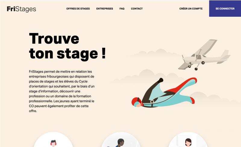 photo de la page d'accueil du site web Fristages