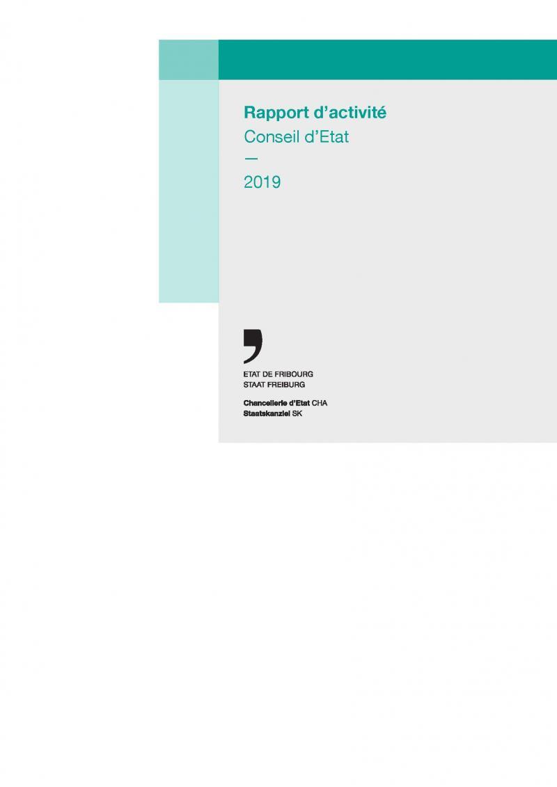 Rapport du Conseil d'Etat 2019 (couverture)