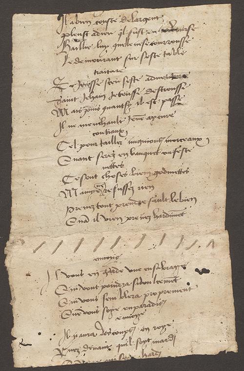 Fragment d'un manuscrit d'une farce aux AEF