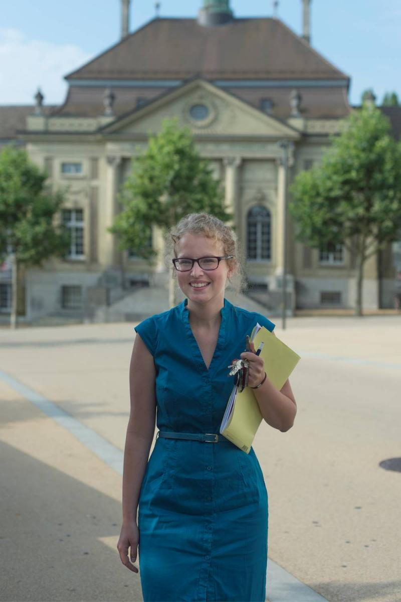 foto von Angélique Boschung, neue Direktorin der Kantons- und Universitätsbibliothek Freiburg
