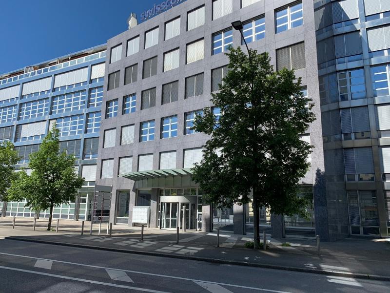 Eingang des IAEZA, rte des Arsenaux 41, Freiburg