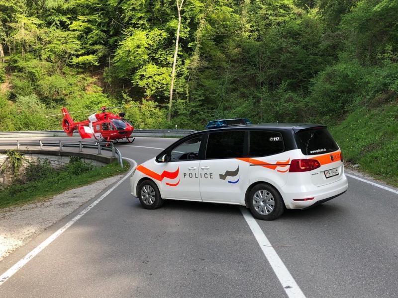 Kantonspolizei Freiburg Motorradunfall