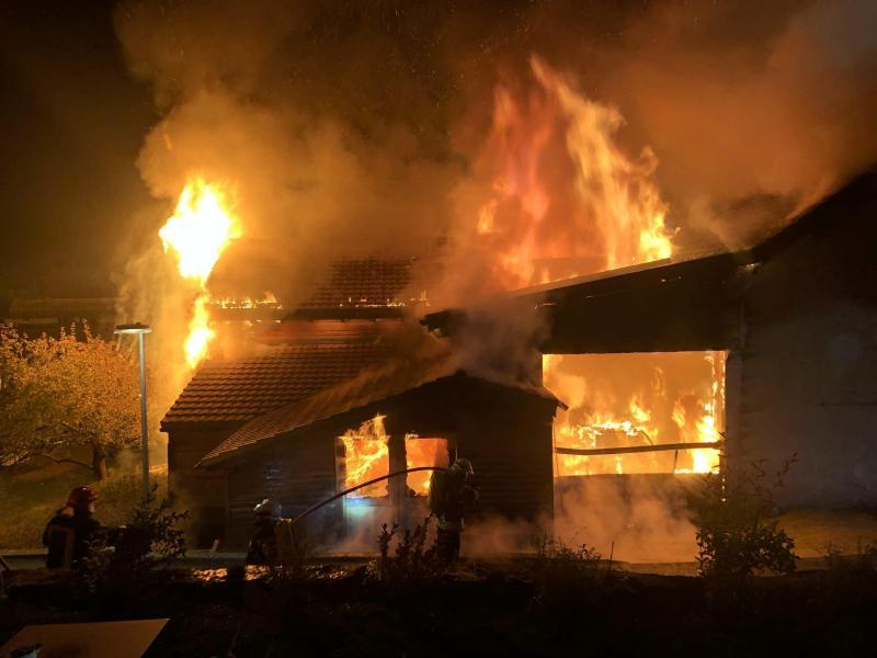 Incendie à Neirivue