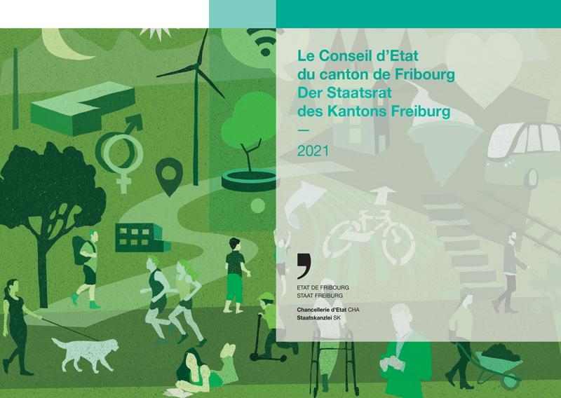 Page de couverture de la brochure de présentation du Conseil d'Etat 2021